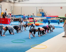 Novice Rec Gymnasts Stretching